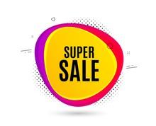 Super Sale. Banner Text Shape....