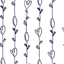Seamless Pattern With Pinstrip...
