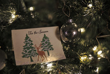 A Christmas Card Is Nestled Wi...
