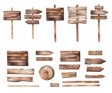 Hand Drawn Wooden Pointers, Pl...