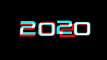 2020 New Years Word Text Messa...