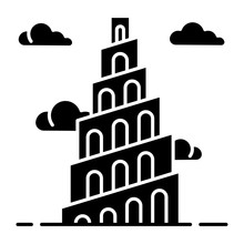 Babel Tower Bible Story Glyph ...