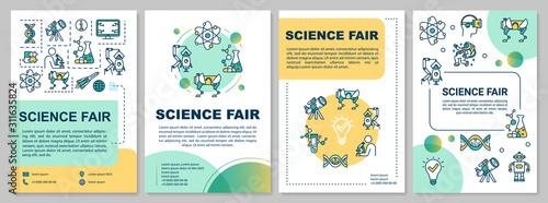 Fotografia  Science fair brochure template