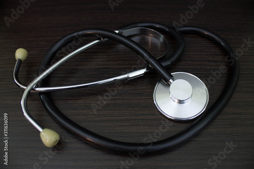 Photo Stethoscope - a medical diagnostic device for auscultation (listening) of sounds