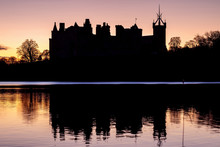 Silhouette Of An Old Castle On...
