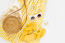 Yellow Dress With Stripes With...