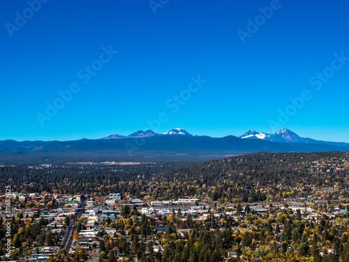 Aerial View of Bend, Oregon Wallpaper Mural