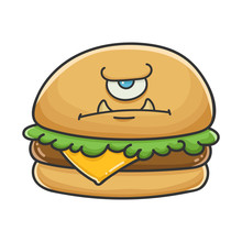 Angry Monster Cheese Burger Ca...