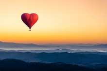 Red Hot Air Balloon In The Sha...