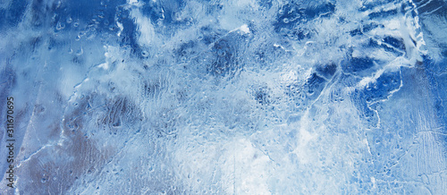 Fototapeta Ice background. The frozen texture of the water obraz
