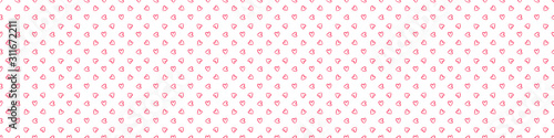 Fotomural Hand drawn holiday background with abstract hearts