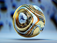 3d Render Of Abstract 3d Ball,...