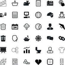 Web Vector Icon Set Such As: D...