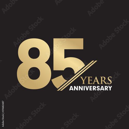 Fotografia  85th Year anniversary emblem logo design vector template