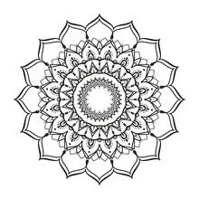 Black And White Mandala Vector...