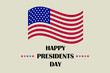 Happy Presidents day in United States, celebrated in February on Washington's birthday. Vector illustration for banner, graphics, prints, slogan tees, stickers, cards, poster, emblem and other creativ