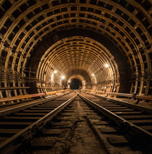 Technical Subway Tunnel Underg...