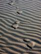 footprints in the sand, spain, spanien