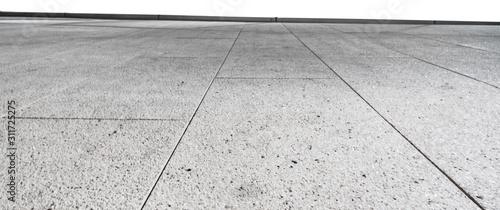 Grey brick stone street road. Light sidewalk, pavement texture