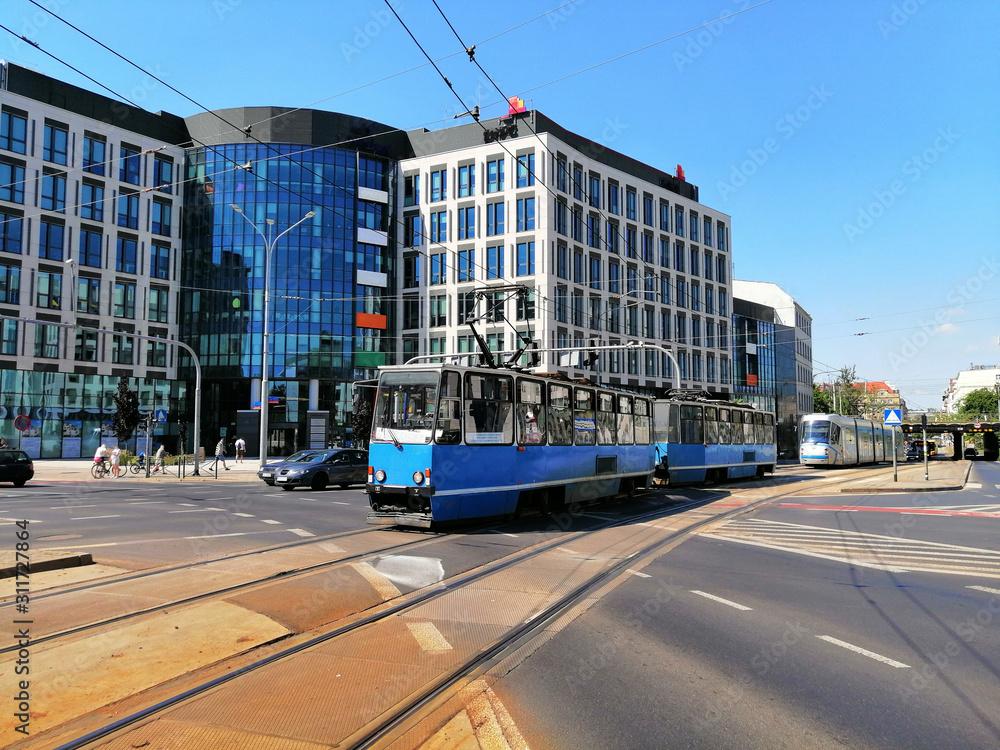 Konstal trams in Wroclaw <span>plik: #311727864 | autor: beqa</span>