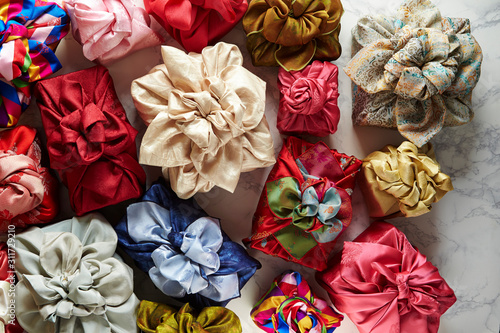 Fotografiet Korean traditional wrapping bag background