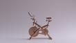 canvas print picture - Bronze Exercise Bike 3d illustration 3d render