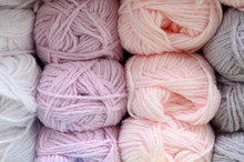 Background Of Rows Skeins Of F...