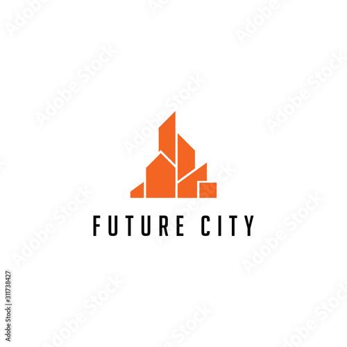 Fotografia, Obraz  Residence City Logo Icon Design Template Elements