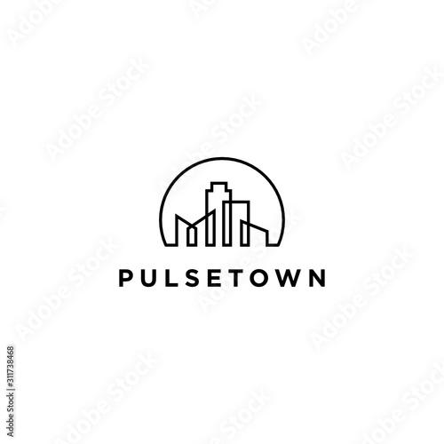 Fototapeta  Residence City Logo Icon Design Template Elements