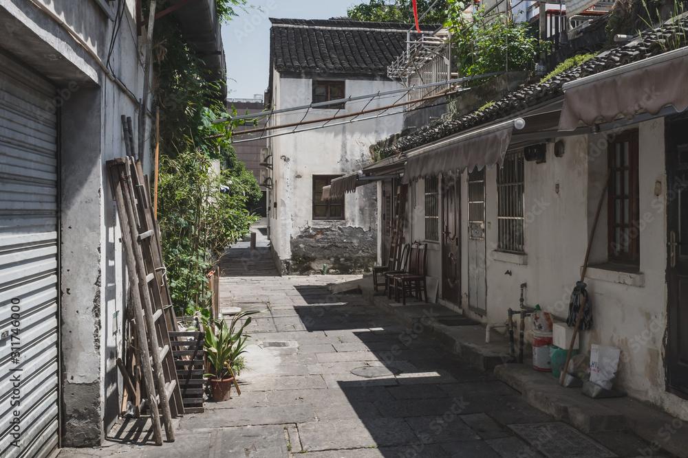 Alley near the Beijing-Hangzhou Grand Canal in Hangzhou, China