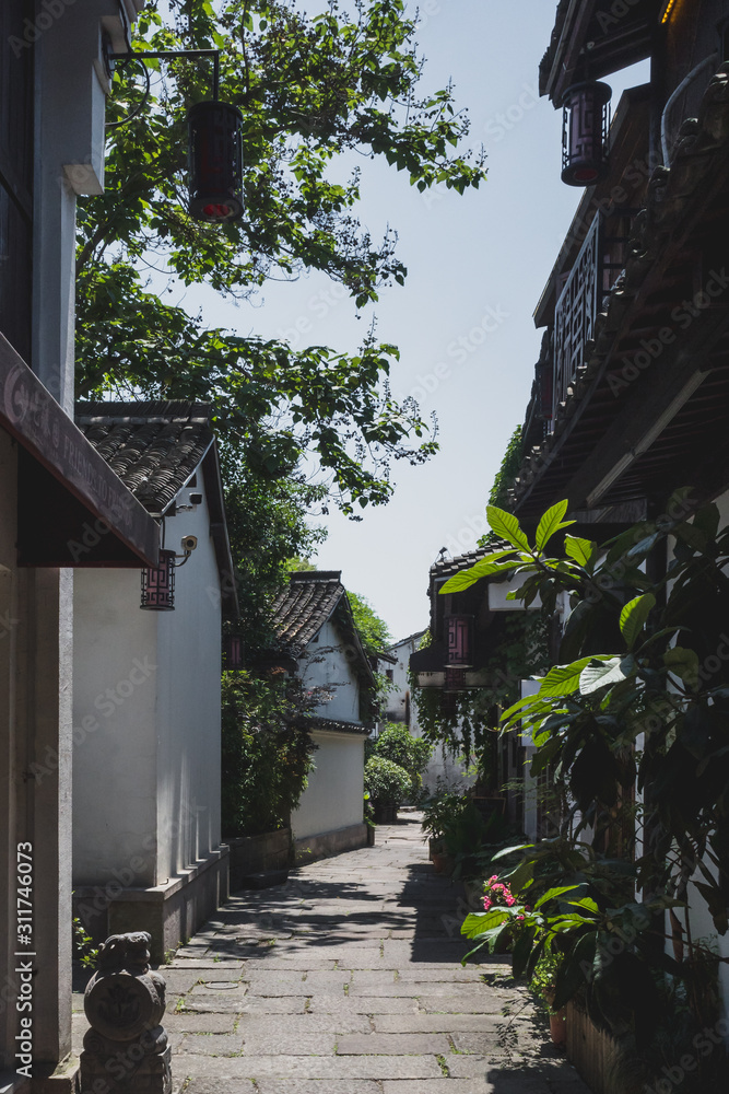 Alley near the Beijing-Hangzhou Grand Canal in Hangzhou, China
