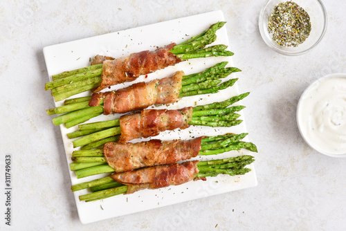 Photo Bacon wrapped asparagus