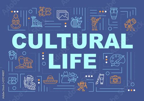Vászonkép Cultural life word concepts banner