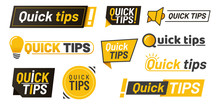 Set Of Isolated Hints Icons, Q...