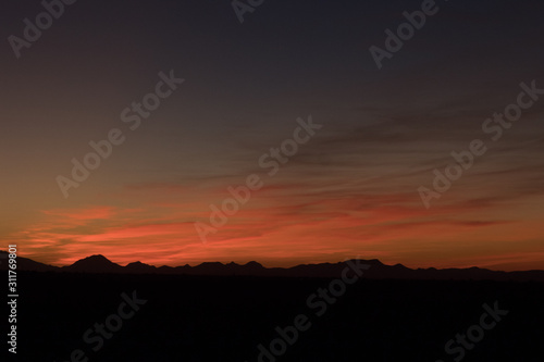 desert sunset in the mountains - 10419