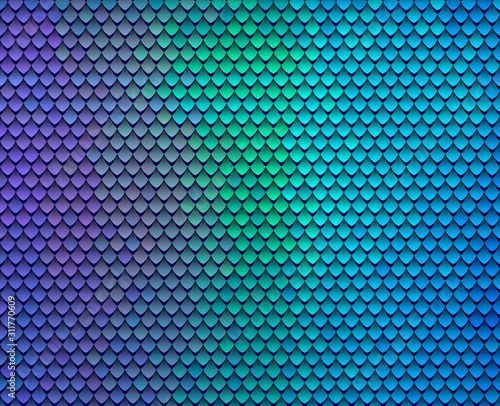 Photo Abstract scale pattern