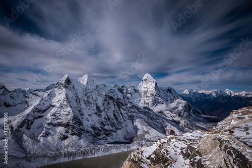 Fototapeta  Himalaya Mountains. Ama Dablam Mountain. Nepal. Blue Sky