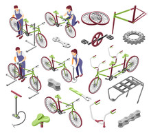 Bicycle Service Isometric Set