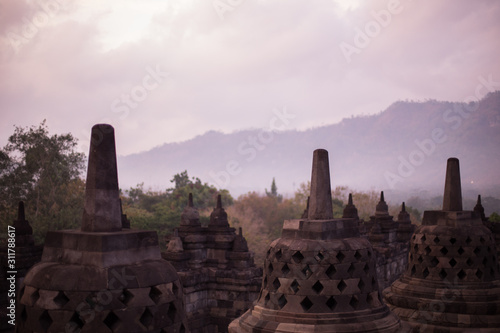 Photo Amanecer en Borobudur