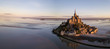 canvas print picture - Le Mont Saint-Michel in Frankreich -Normandie