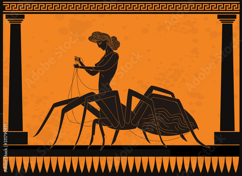 arachne greek mythology spider half woman silk weaver Tapéta, Fotótapéta