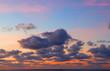 Wolken im Sonnenuntergang über der Nordsee