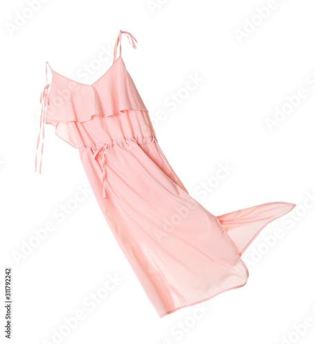 Foto Flying dress on white background