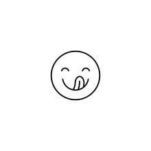Set Of Outline Emoticons, Colorful Emoji Isolated On White Background, Vector Illustration, Smile Icon Set