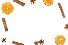 Frame Made Of Dried Oranges, C...