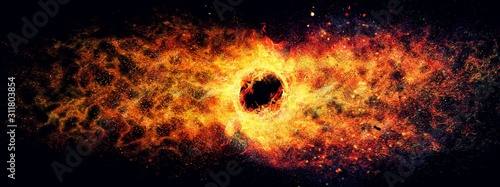 Fototapeta 抽象的な渦巻く炎
