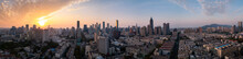Panoramic View Of Skyline Of Nanjing City At Sunset