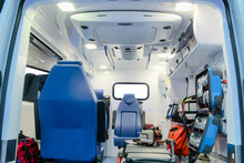 Inside An Ambulance Car With M...