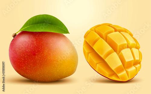Fototapeta 3d illustration mango fruit obraz