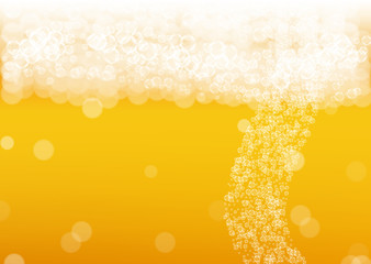 Beer background. Craft lager splash. Oktoberfest foam. Froth pint of ale with...